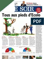 résultats des élections 2009 Belgique - Le Soir du 08/06/2009