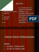 POKOK-POKOK KEPEGAWAIAN PNS