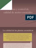 Análisis y control de aceites esenciales