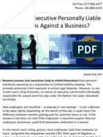 When Is an Executive Personally Liable for Claims Against a Business?
