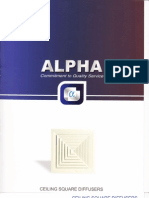 Alpha Ceiling Square Diffusers