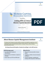 Linking KPIs to Critical Human Capital Questions Webinar