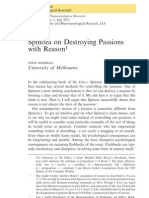 Colin Marshall - Spinoza on Destroying Passions With Reason