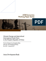 Climate Change and Agricultural Interregional Trade Flows in the People's Republic of China