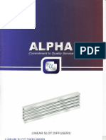 Alpha Linear Slot Diffusers