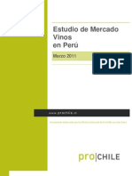 Estudio Mercado Vino Peru Prochile Marzo 2011