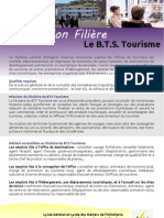 Information Filière B.T.S. Tourisme