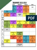 Schedule 2013 14