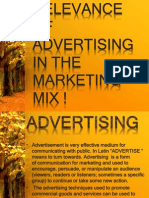 Adv and Marketing Mix by Tanika Sareen