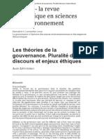 Les théories de la gouvernance