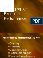 4 Managing for Excellent Performance