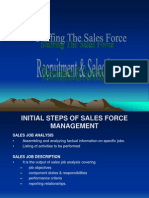 Staffing the Sales Force 1