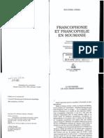 Francophonie Et Francophilie en Roumanie