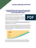 Nonprofit Governance_Cincinnati Public Library_14 June 2009