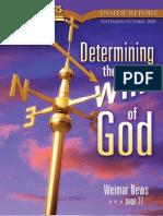 September, October 2008 [Determining the Will of God]