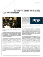 Jsc Body Opens Way for Action on Hlophe Law Constitution