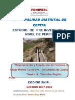 Perfil Const Irrigacion Molino