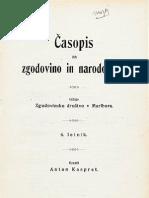 1909 3-4 Casopis Za Zgodovino in Narodopisje