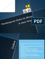 Pembangunan Sektor Air Minum di Jawa Tengah