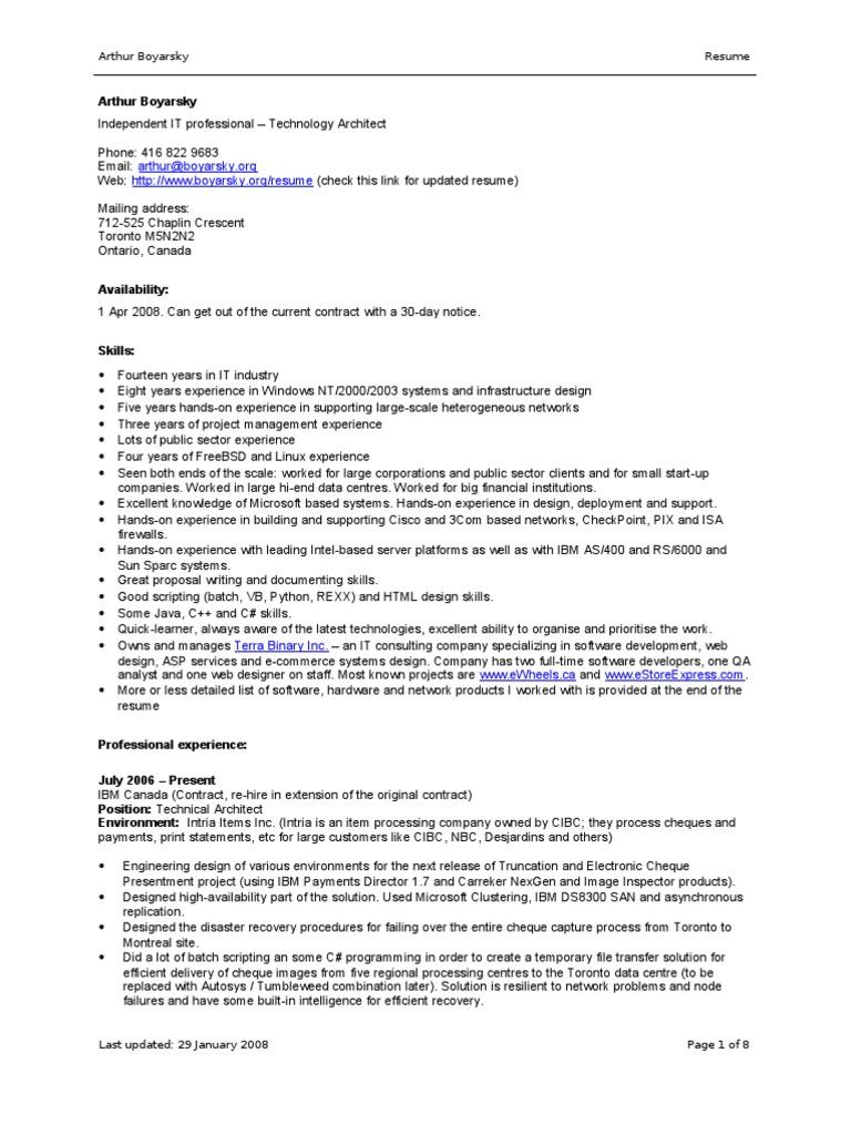 nice resume  windows 2000  computer network