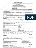 Chimie Anorganica Filiera Teoretica