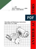 IP68 Actuator With CC Spares Catalogue