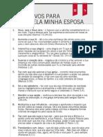 10 Motivos Orar Esposa v.2