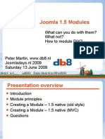 Developing Joomla 1.5 Modules by Peter Martin