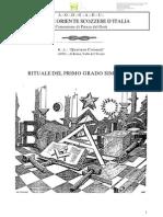 34863995 eBook Massoneria ITA AA Vv Rituale Del Primo Grado Simbolico Del Grande Oriente Scozzese d Italia