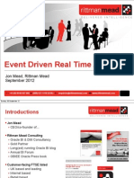 Event Driven Real Time Analytics