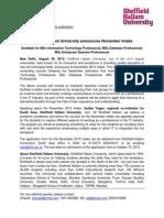 Press Release November 2013 Intake