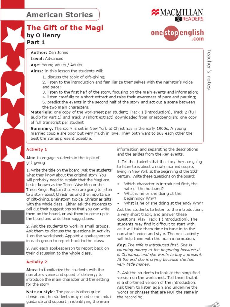 worksheet The Gift Of The Magi Worksheet gift of the magi part1 biblical magi
