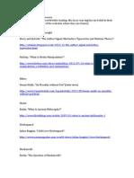 Online Philosophy Resources