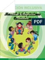 Manual de Adaptaciones Curriculares de Educacion Inclusiva