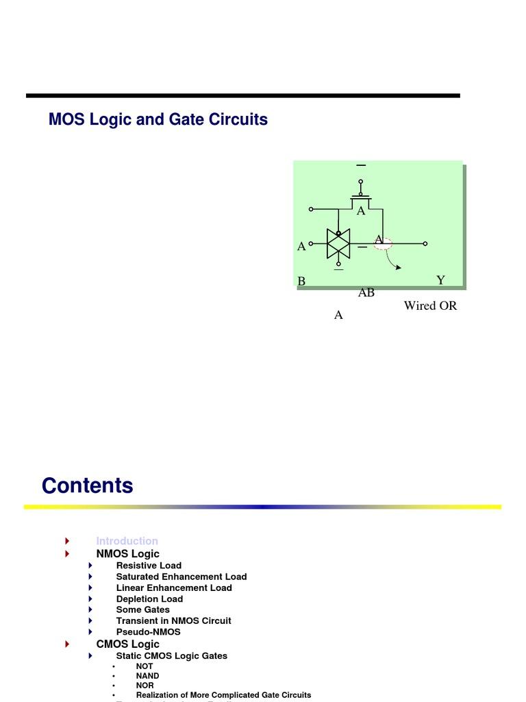 Mos Logic Cmos Mosfet Gates Circuit