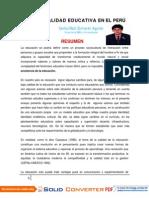 LA CALIDAD EDUCATIVA EN EL PERÚ- CARLOS ZUMARÁN AGUILAR