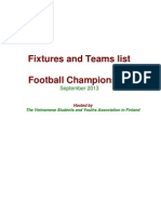 2013 Football Championship_Fixtures & Teams list