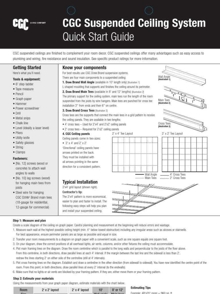 Cgc Ceilings Quick Start Guideeng Framing Construction Ceiling