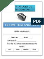 Portafolio de Evidencias Geometria Analitica