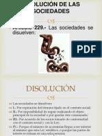 DISOLUCIÓN DE LAS SOCIEDADES