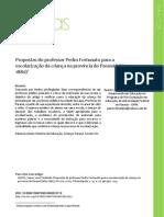 Propostas do Professor Pedro Fortunato para a escolarização da criança na Província do Paraná - LINHAS UDESC - 2013