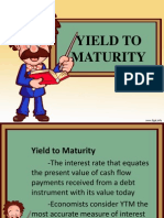 Yield to Maturity