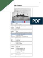 French Battleship Bouvet