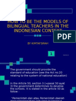 How to Be the Models of Bilingual Teachers