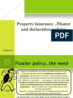 Session 4 ..Fire Insurance.. Floater and Declaration Policy