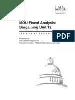 Memorandum of Understanding - IUOE (Bargaining Unit 12)