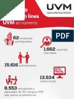 1er Expo Empleo en línea UVM en números