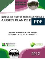 MICROCURRICULOS NUEVAS ASIGNATURAS PROGRAMA DE ADMINISTRACIÓN DE EMPRESAS 2013 12 NUEVAS