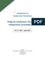 5654 FV Pliego Condiciones Tecnicas Instalaciones Conectadas a Red C20 Julio 2011