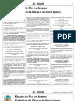 diario oficial de nova iguaçu de 28 de agosto de 2013.